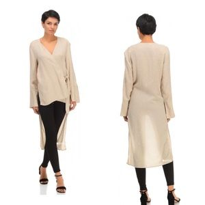 Zara Basic Collection Wrap High Low Blouse